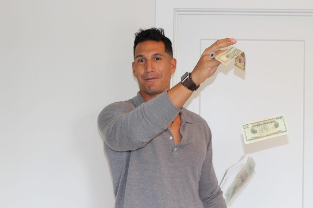 wealth throwing money